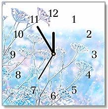 Tulup - Glass Wall Clock - 30x30cm - Black Hands -