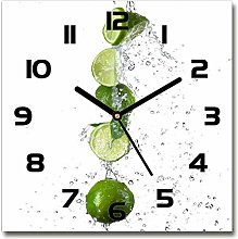Tulup Glass Wall Clock 30x30cm Decoration Picture