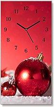 Tulup - Glass Wall Clock - 30x60cm - Black Hands -