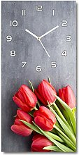 Tulup - Glass Wall Clock - 30x60cm - Decoration