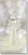 Tulup - Glass Wall Clock - 30x60cm - White Hands -