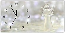 Tulup - Glass Wall Clock - 60x30cm - Black Hands -