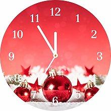Tulup - Glass Wall Clock - fi 30cm - White Hands -