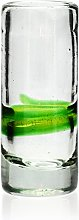 Tumia LAC Shot or tequila glass, blended green,
