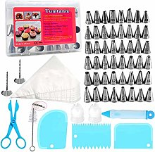 Tumtanm 78 Pieces Cake Decorating Kit with Piping