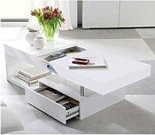 Tuna Storage Coffee Table In High Gloss White