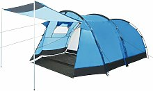 Tunnel Camping Tent 4 Person Blue - Blue