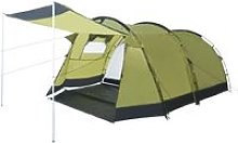 Tunnel Camping Tent 4 Person Green