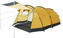 Tunnel Camping Tent 4 Person Yellow - Yellow -