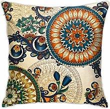 TUOFUBAGS Colorful Floral Decorative Mandala Frame