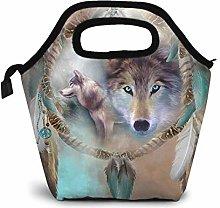 TUOFUBAGS Cool Wolf Dream Catcher Reusable