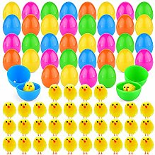 TUPARKA 36Pcs Easter Eggs with 36Pcs Easter Chicks