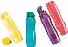 Tupperware Aquaslim 1l Fliptop Bottle 4pc