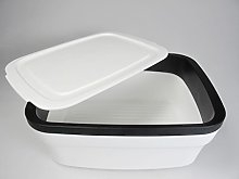 Tupperware Bread Max 2 31082 Bread Bin White Black