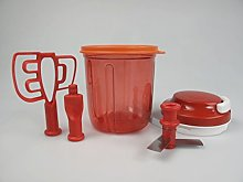 TUPPERWARE E17 Smooth Chopper red + cover orange