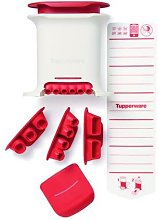 TUPPERWARE Gnocchi Party + 4 Insets red white