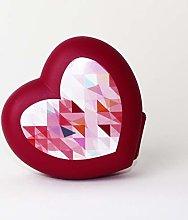 Tupperware Heart Snackox Lunch Box Dark Red