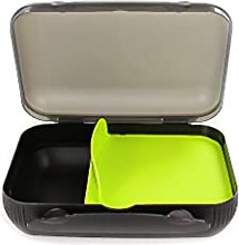 Tupperware lunch box with divider, lime green, to go bread box sandwich, black 14856
