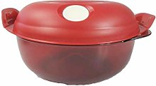Tupperware Round Microwave Box 1.5l Red