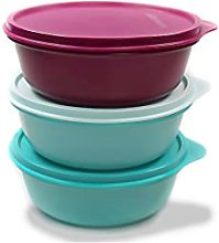 Tupperware Salad bowl 600ml blue turquoise + light