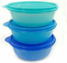 TUPPERWARE Salad bowl set (3) 600ml dark blue +