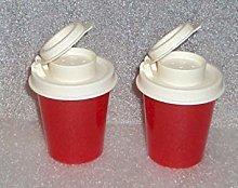 Tupperware Salt And Pepper Shakers Mini Set,