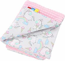 TupTam Baby Blanket 75x100 Plush Bubble Cover