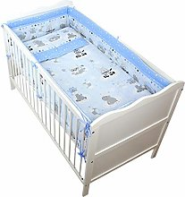 TupTam Baby Cot Bedding Set with All Around Bumper