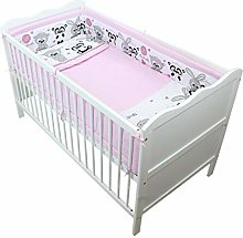 TupTam Baby Cot Bedding Set with All Around Bumper