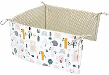 TupTam Baby Cot Bumper Head Protection, Forest