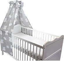 TupTam Baby Cot Canopy with Crown and Bow, Bear