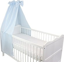 TupTam Baby Cot Canopy with Crown and Bow, Blue,