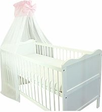 TupTam Baby Cot Canopy with Crown and Bow Chiffon,