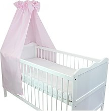 TupTam Baby Cot Canopy with Crown and Bow, Light