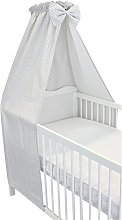 TupTam Baby Cot Canopy with Crown and Bow, Little