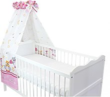 TupTam Baby Cot Canopy with Crown and Bow, Owls