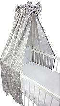 TupTam Baby Cot Canopy with Crown and Bow, Stars