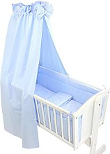 TupTam Baby Cradle Bedding Set with Bumper and