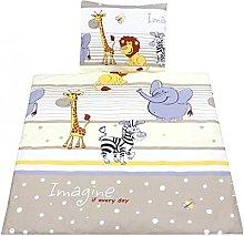 TupTam Baby Crib Pram Bedding Set Duvet Pillow - 4