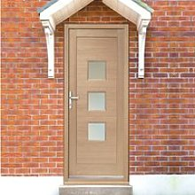 Turin Exterior Oak Door and Frame Set with