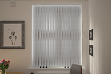 Turin Silver Vertical Blind
