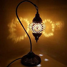 Turkish/Moroccan Lamp Glass Desk Table Lamp with
