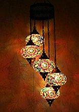 Turkish Moroccan Mosaic Glass Handmade Ceiling