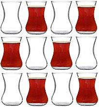 Turkish Tea Glasses Cups Set, Set of 6 Turkish