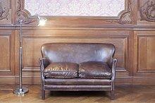 Turner vintage leather sofa