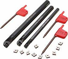 Turning Tools,Lathe Tool Set with 10pcs CCMT0602
