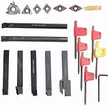 Turning Tools,Lathe Tool Set with 7pcs Carbide