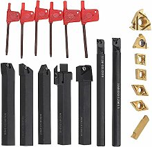 Turning Tools,Lathe Tool Set with Carbide