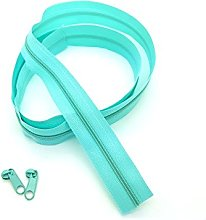 Turquoise Continuous Zip & Sliders No. 3 Zippers