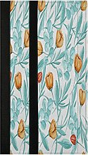 Turquoise Leaves Refrigerator Door Handle Covers 2